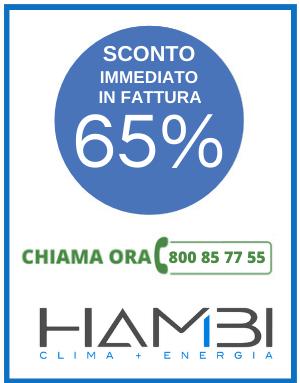 Sconto immediato 65% climatizzatori Hambi